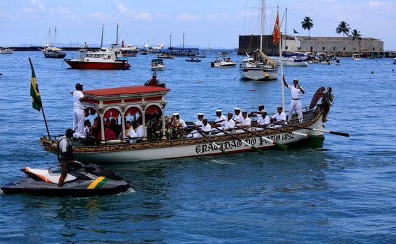 maritime procession through the bay of todos santos