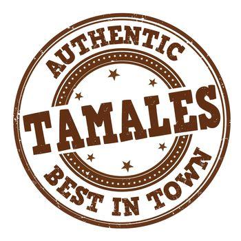 Tamales grunge rubber stamp