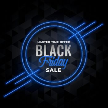 neon sale banner for black friday event