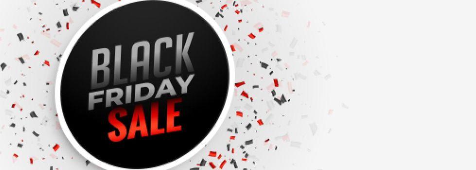 black friday sale white banner design