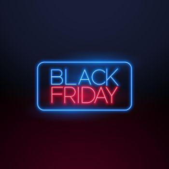 black friday neon light background design