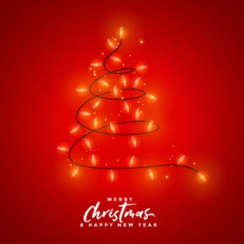 merry christmas red light decoration background design