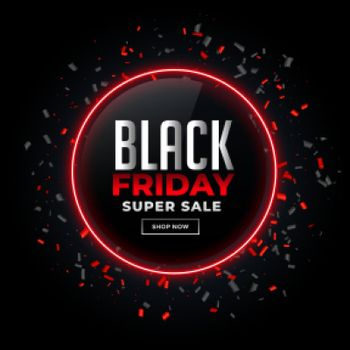 black friday sale background with confetti design