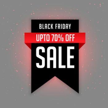 black friday sale label with offer details