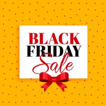 black friday sale background with red ribbon