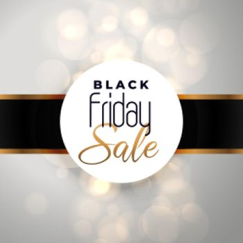 black friday sale background with bokeh effect