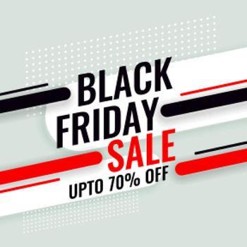 black friday sale background with offer details