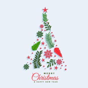christmas tree made with decorative elements design