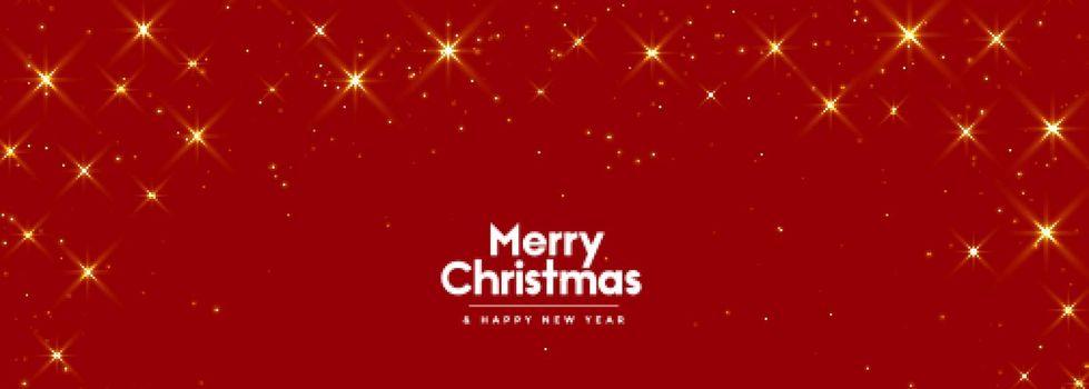 merry christmas red sparkle festival banner design