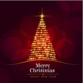 beautiful christmas sparkle tree festival background design