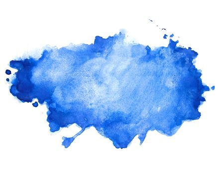 abstract blue watercolor stain texture background design