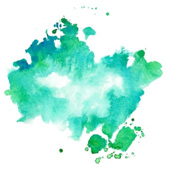 turquoise and blue watercolor texture stain background