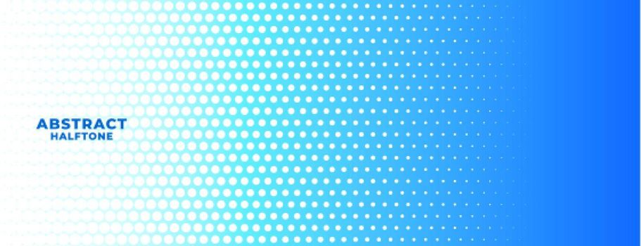 abstract blue and white halftone wide banner