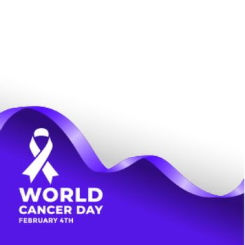 februarty 4th world cancer day poster design concept