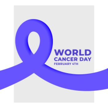 world cancer day february 4th concept poster design