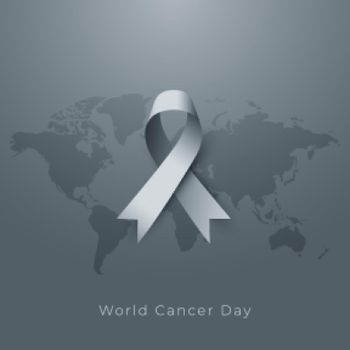 world cancer day poster in gray tone design