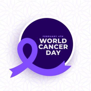 awareness poster for world cancer day design