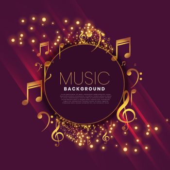 shiny music background with notes and sparkle