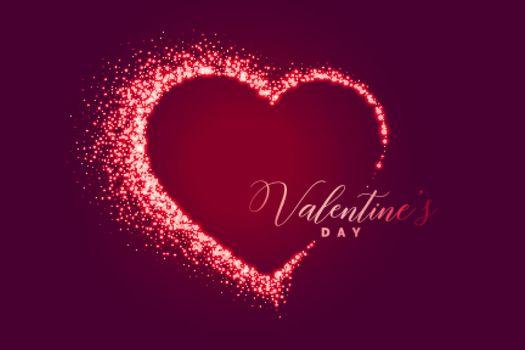 sparkle heart happy valentines day background design