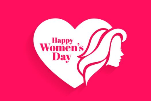happy womens day face and heart concept design