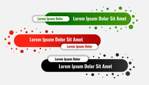 lower third banners in rounded style design