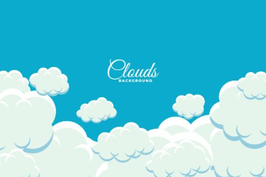 fluffy clouds floating in sky background design