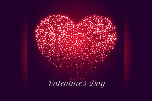 creative sparkle heart valentines day background design