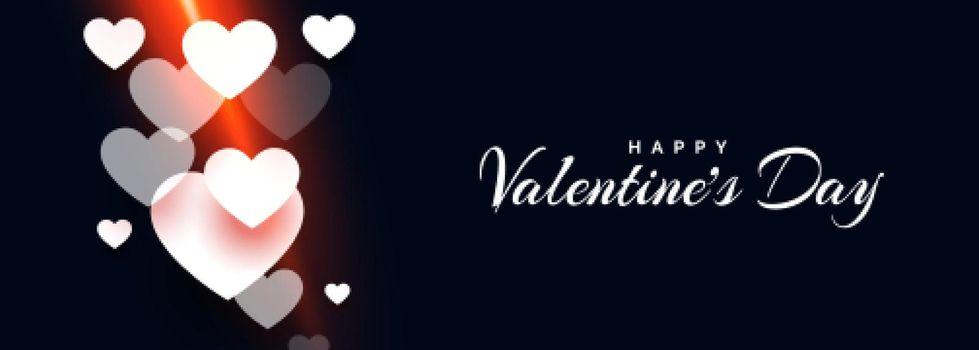 attractive happy valentines day hearts banner design