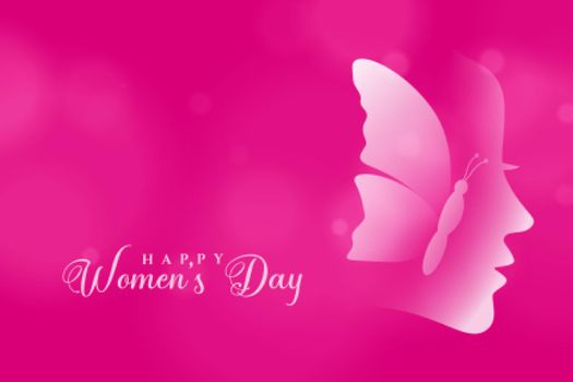 attractive happy womens day pink color background