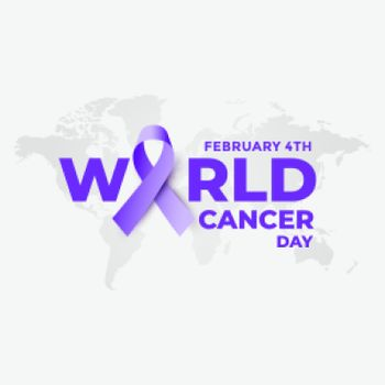 february 4th world cancer day poster design background