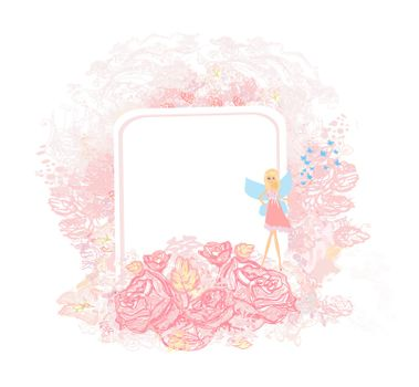 Beautiful Fairy - floral girly card