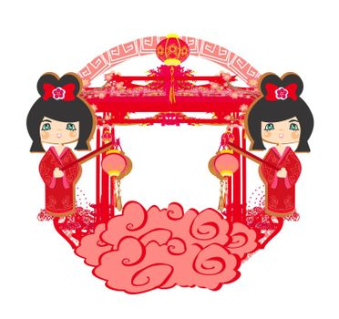 Mid-Autumn Festival for Chinese New Year - decorative frame