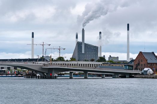 Copenhagen, Denmark - July 24, 2017: New eco friendly power station  Amager Bakke (Amager Hill) in Copenhagen.