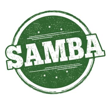 Samba grunge rubber stamp