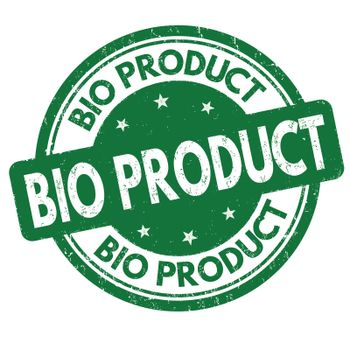 Bio product grunge rubber stamp