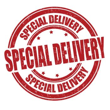 Special delivery grunge rubber stamp