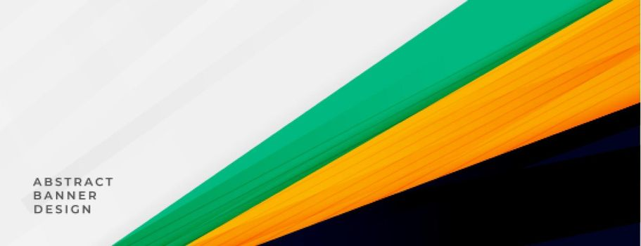 abstract wide banner with sporty colors