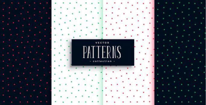 cute small polka dots pattern design