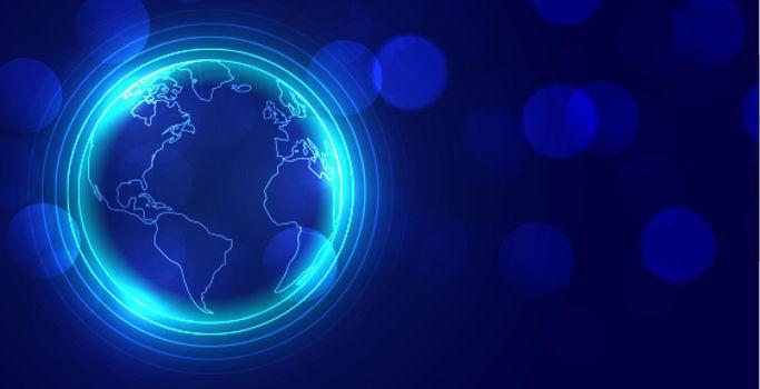 digital global earth glowing background