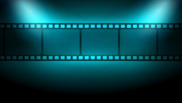 film strip background with focus lights