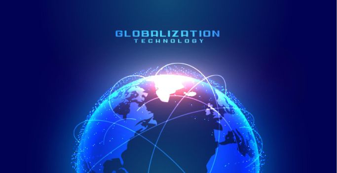 globalization concept with earth and connection lines