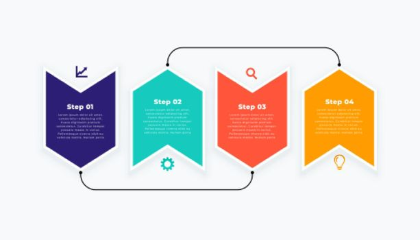 infographic template in modern layout design