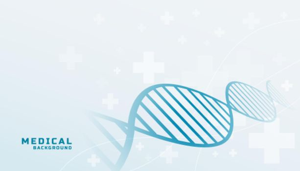 medical background with dna shape