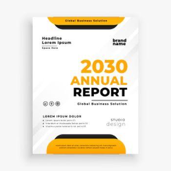 modern annual report business brochure flyer design