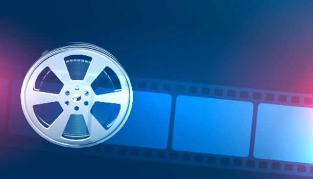 movie roll and film strip background