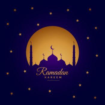 ramadan kareem elegant greeting card design