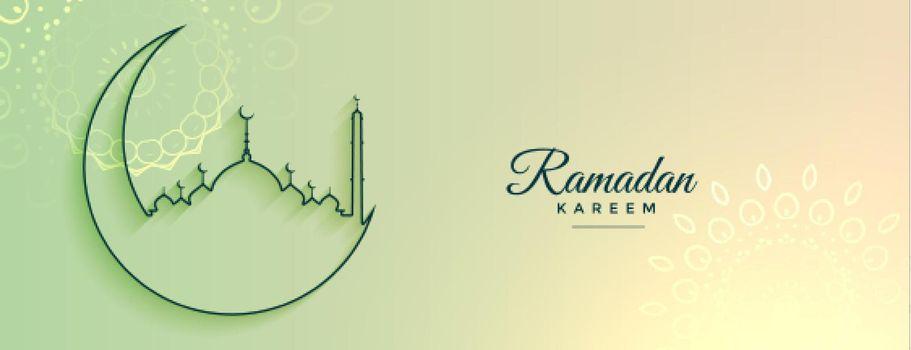 ramadan kareem islamic banner design