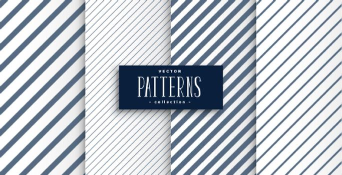 set of diagonal lines patterns design