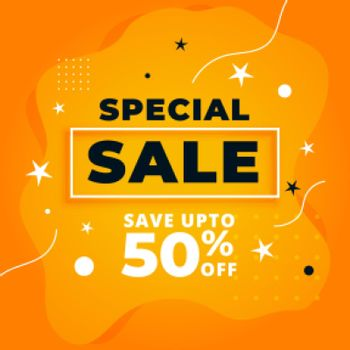 special sale yellow promotional banner design