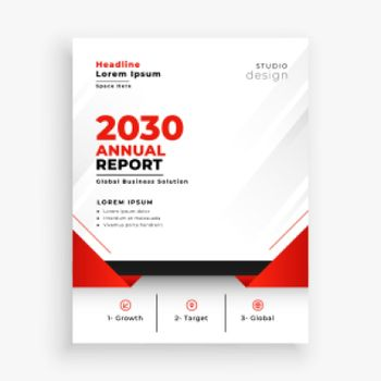 stylish annual report business brochure flyer design
